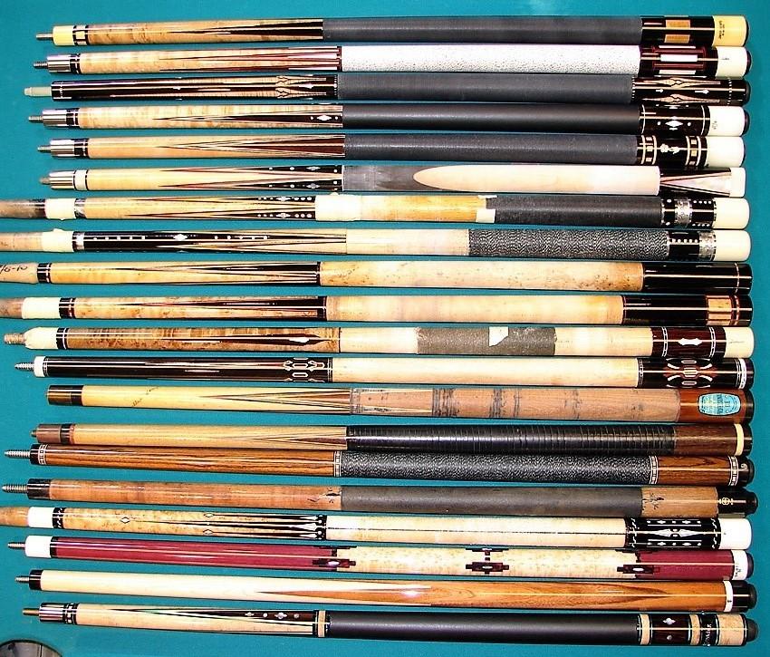 Examples of cue repair and cue refinishing at Proficient Billiards